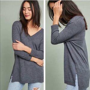 Moth extra fine merino wool v-neck sweater top